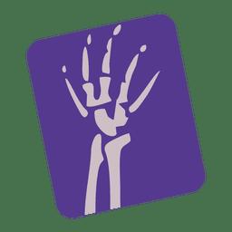 Icono de la radiografía de la muñeca rota