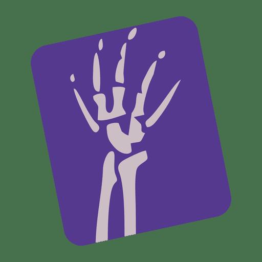Icono de radiografía de muñeca rota
