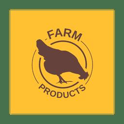 Etiqueta de pollo marrón.svg