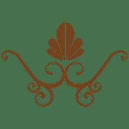 Decoração floral plana marrom