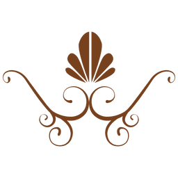 decoración floral plana de Brown