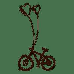 Bicicleta dibujada a mano marrón