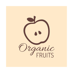 Brown organic fruit.svg