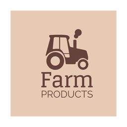 Brown tractor icon.svg