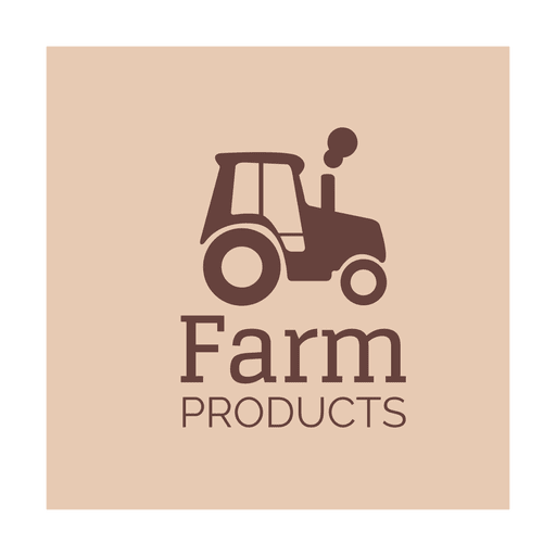 Brown tractor icon.svg Transparent PNG