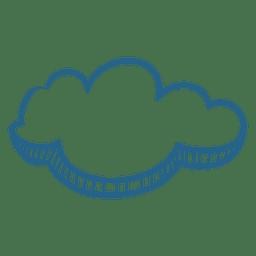 Mensaje de nube de dibujo de pincel