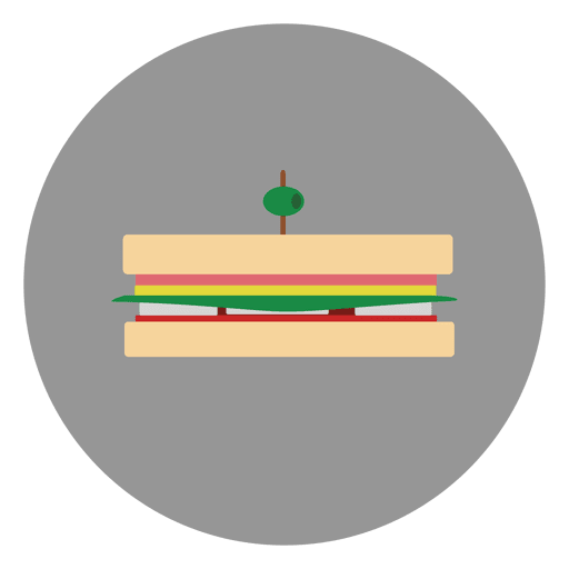 Burger circle icon Transparent PNG