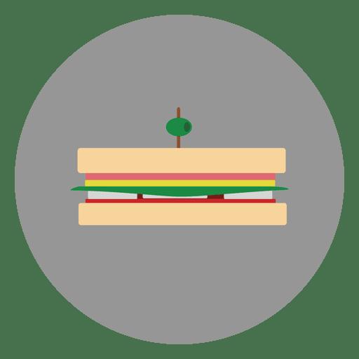 Icono de c?rculo de hamburguesa