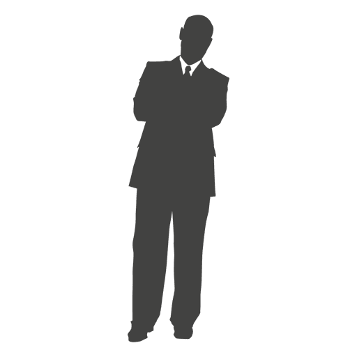 Business executive relaxing silhouette