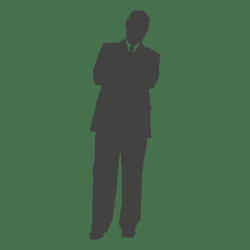 Executivo de negócios relaxante silhueta Transparent PNG