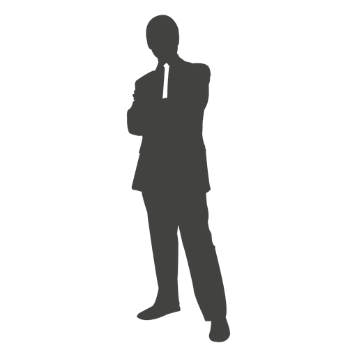 Business Executive Standing Silhouette