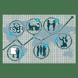 Diagrama de crecimiento empresarial