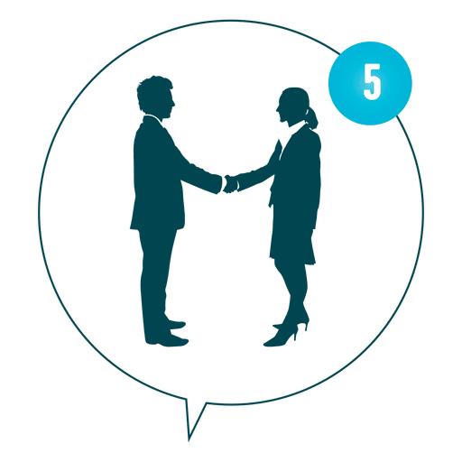 Business meeting silhouette Transparent PNG