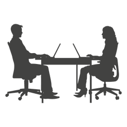 La gente de negocios que trabajan en la computadora portátil