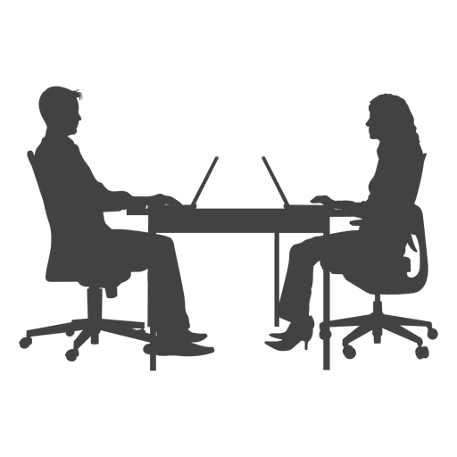 people sitting at table png. business people working on laptop png sitting at table i