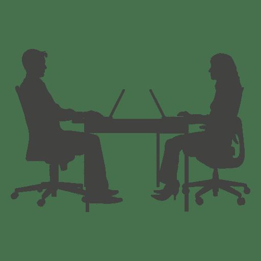 Hombres de negocios que trabajan en la computadora portátil Transparent PNG