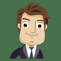 Dibujos animados de empresario mirando al frente