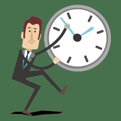 Dibujos animados de empresario invirtiendo el tiempo Transparent PNG