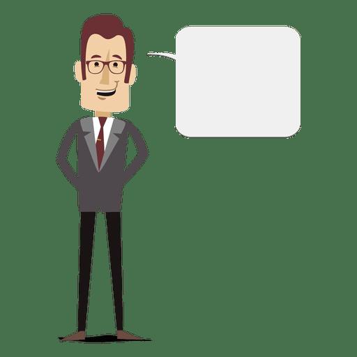 Bolha de texto de empresário dos desenhos animados Transparent PNG