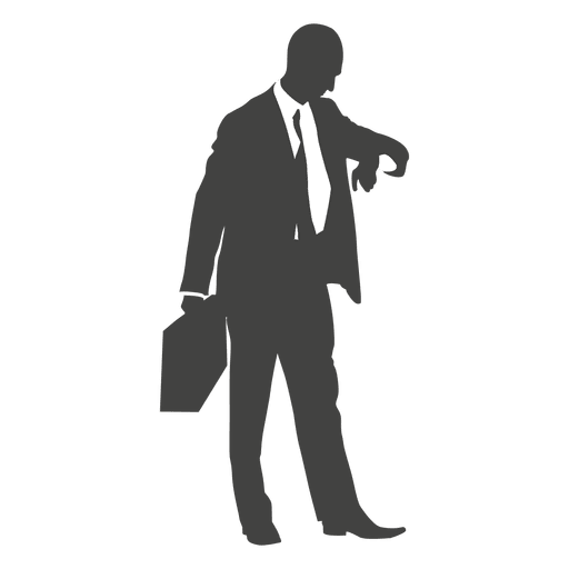 Businessman checking time on his clock  Transparent PNG