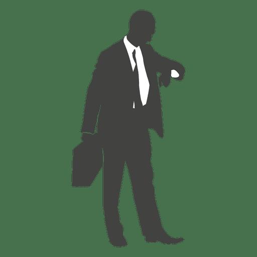 Homem negócios, verificar, tempo, ligado, seu, relógio Transparent PNG