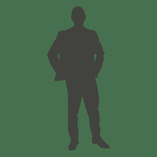 Standing businessman hands on waist Transparent PNG