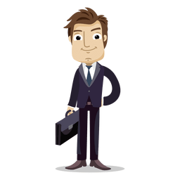 Businessman holding office bag