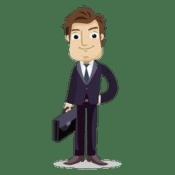 Geschäftsmann, der Bürotasche hält