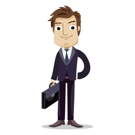 Businessman holding office bag Transparent PNG