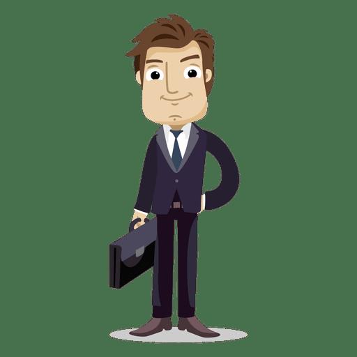 Businessman holding office bag