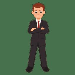 Homem negócios, profissão, caricatura
