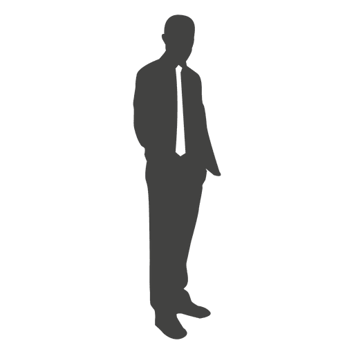Businessman silhouette looking at side Transparent PNG