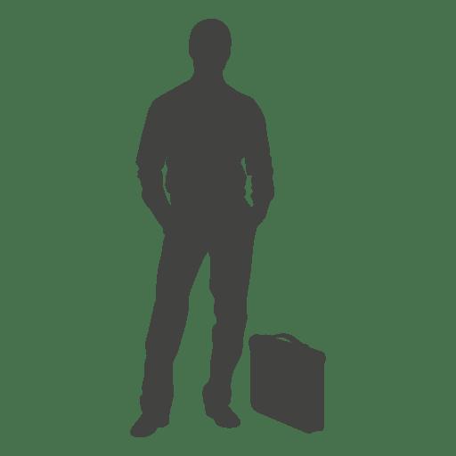 Homem negócios, ficar, por, pasta Transparent PNG