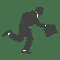 correr ocupado hombre de negocios silueta