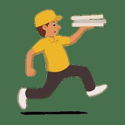 Homem de entrega correndo ocupado
