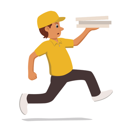 Busy running delivery man - Transparent PNG & SVG vector file