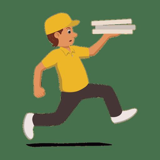 Homem de entrega correndo ocupado Transparent PNG