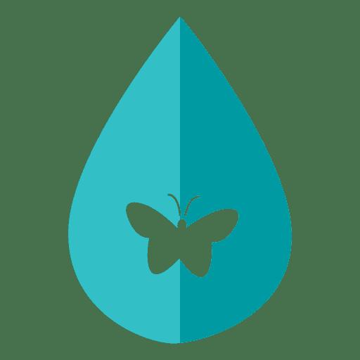 Ícone de gota de água borboleta Transparent PNG