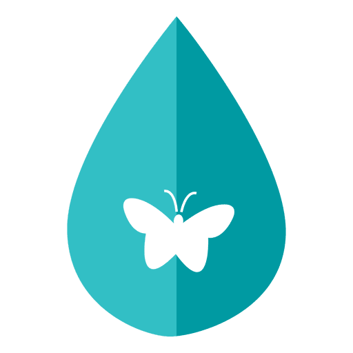 Butterfly water drop icon Transparent PNG