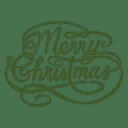 Calligraphic merry christmas seal