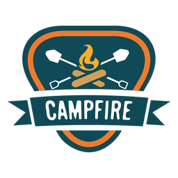 Campfire triangular vintage label