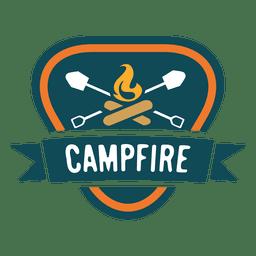 Campfire triangular vintage label