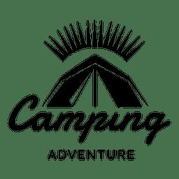 insignia de viaje Camping