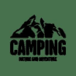 Camping travel emblem