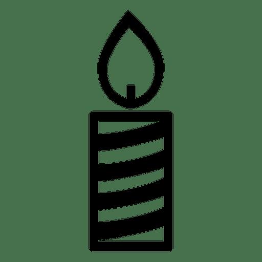 Vela luz icono de navidad Transparent PNG