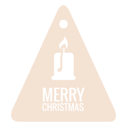 Candelabro troquelado etiqueta de Navidad