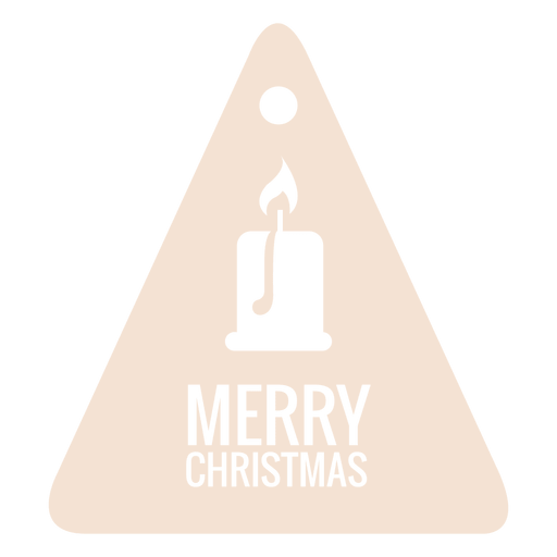Candlelight die cut xmas tag Transparent PNG