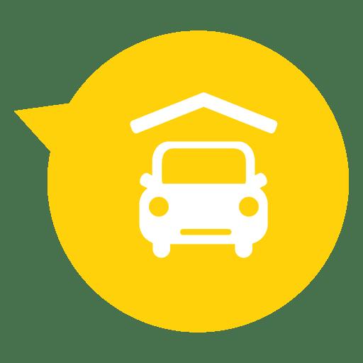 Car house real estate icon