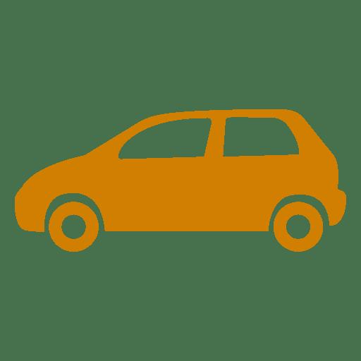 Ícone da silhueta do carro Transparent PNG