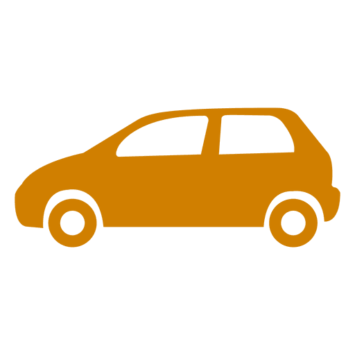 Icono de la silueta del coche Transparent PNG